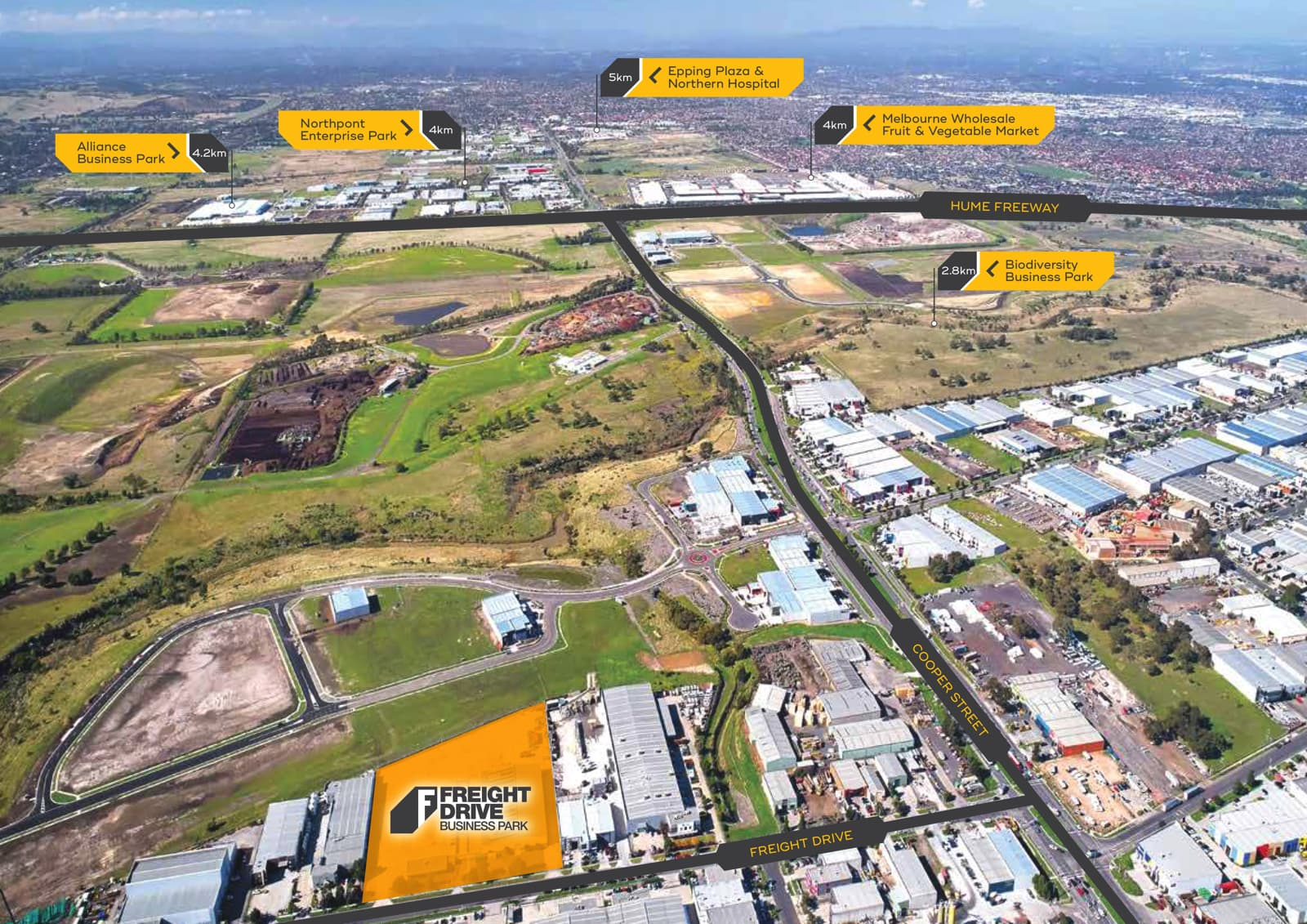 Freight Drive Business Park, Melbourne Market View